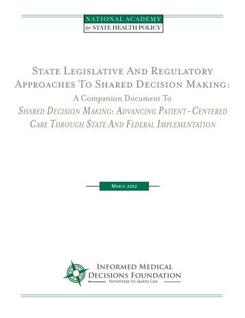 Companion Document - National Academy for State Health Policy