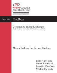 Money Follows the Person Toolbox - National Long-Term Care ...
