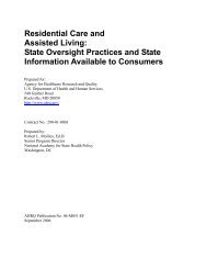 Residential Care and Assisted Living - Agency for Healthcare ...