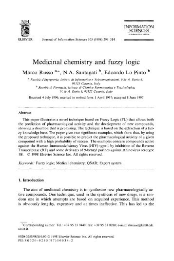 Medicinal chemistry and fuzzy logic