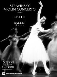 stravinsky violin concerto giselle - The National Ballet of Canada