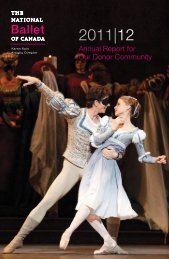 Annual Report - The National Ballet of Canada