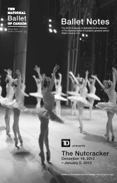 Ballet Notes - The National Ballet of Canada