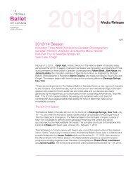 2013/14 Season - The National Ballet of Canada