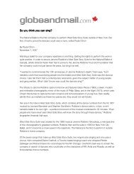 Globe and Mail West Side Story Suite Article - The National Ballet of ...