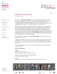 MAD HOT Wonderland - The National Ballet of Canada