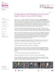 Principal Dancer Sonia Rodriguez Receives Spain's Cross of Civil ...