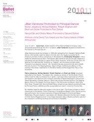 Jillian Vanstone Promoted to Principal Dancer - The National Ballet ...