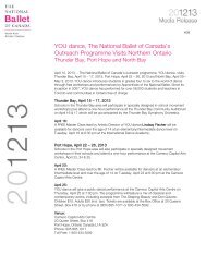 YOU dance, The National Ballet of Canada's Outreach Programme ...