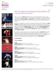 The Four Seasons & Emergence Opens March 20 - The National ...