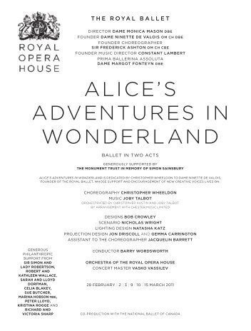 alice's adventures in wonderland - The National Ballet of Canada