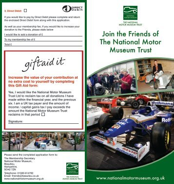 Join the Friends of The National Motor Museum Trust