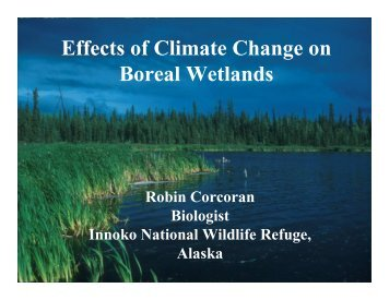 Effects of Climate Change on Boreal Wetlands - National Zoo