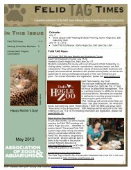 May 2012 Newsletter - National Zoo