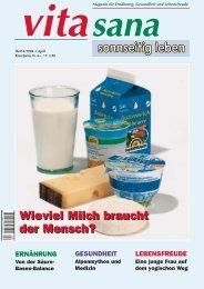 Wieviel Milch braucht der Mensch? - vita sana Gmbh