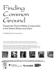 Temperate-Forest Habitat Conservation in the United ... - National Zoo