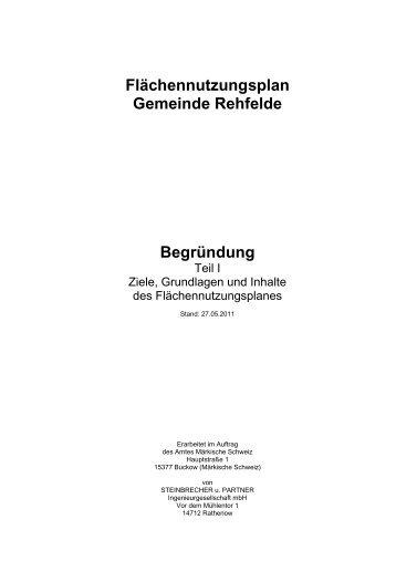 Flächennutzungsplan Gemeinde Rehfelde ... - Amt Märkische Schweiz