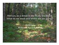 Mercury Toxicity and Acid Rain - National Zoo
