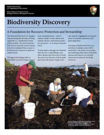Biodiversity Discovery - Explore Nature - National Park Service
