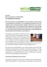 WPC-News - NATURinFORM