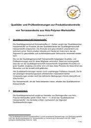 Qualitäts- und Prüfbestimmungen zur ... - NATURinFORM