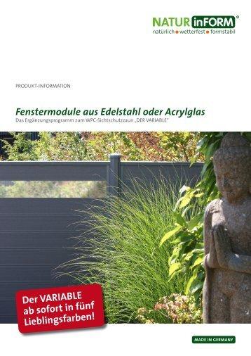 Fenstermodule aus Edelstahl oder Acrylglas - NATURinFORM