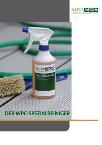 DER WPC-SPEZIALREINIGER - NATURinFORM