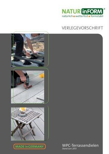 VERLEGEVORSCHRIFT - NATURinFORM