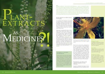 Plant extracts as medicines - Naturstoff-forschung.info