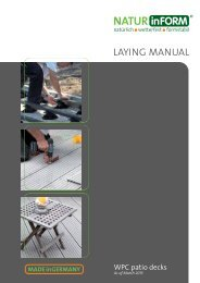 Download manual - NATURinFORM