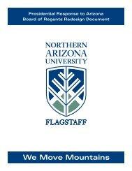 NAU's Response to ABOR Redesign - www4 - Northern Arizona ...