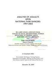 analysis of assaults upon national park rangers - cpcesu - Northern ...