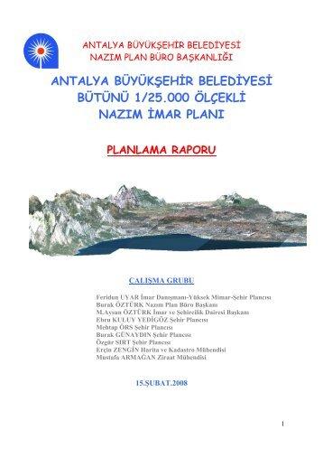Belgenin Tamamına Erişmek için tıklayınız... - Antalya Büyükşehir ...