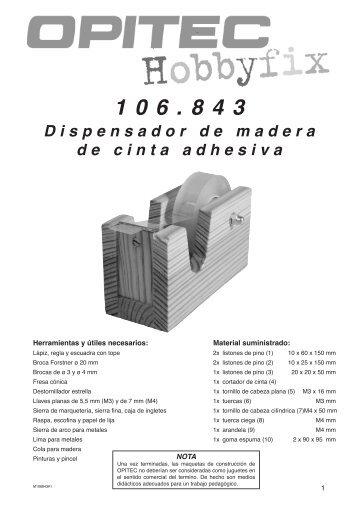 Dispensador de madera de cinta adhesiva 106.843