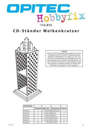 4 bauanleitung die tarier for Bauanleitung cd sta nder