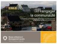 engager la communauté - Network for Business Sustainability