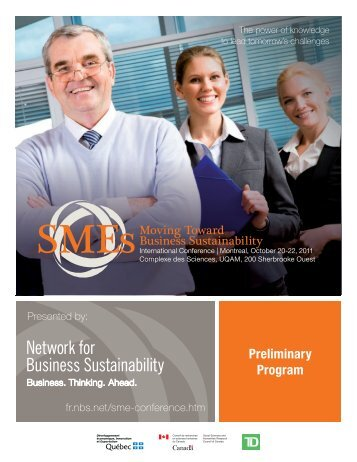 Preliminary Program - Network for Business Sustainability