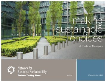 A Guide for Managers - Network for Business Sustainability
