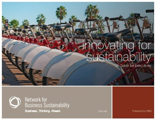 NBS's report on Innovating for Sustainability - Network for Business ...