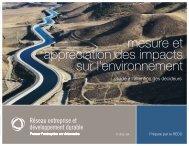 Mesure et appréciation des impacts sur l'environnement : un guide ...