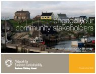 engage your community stakeholders - Network for Business ...