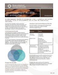 Introduction : Développement durable en entreprise