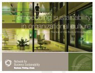 embedding sustainability in organizational culture - Network for ...