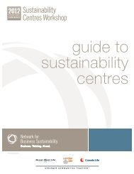 Learn more - Network for Business Sustainability
