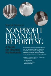 Special Issues in Nonprofit Financial Reporting: A ... - Urban Institute