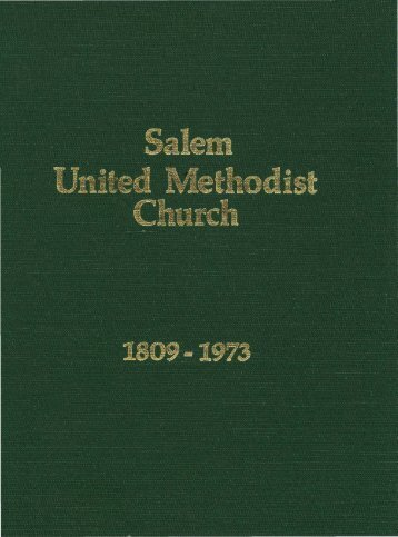 Salem United Methodist Church, 1809-1973 - North Carolina ...