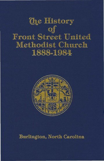 The History of Front Street United Methodist Church, 1888-1984