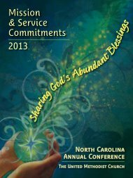 Mission & Service Commitments 2013 - North Carolina Conference ...