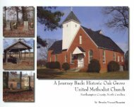 A Journey Back: Historic Oak Grove United Methodist Church, 2007