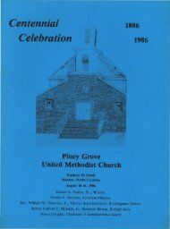 Centennial Celebration, Piney Grove United Methodist Church ...